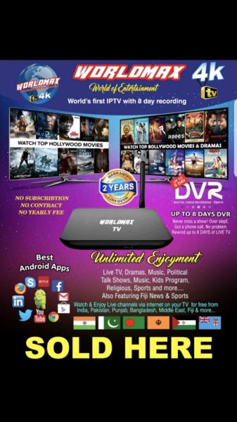 WORLD MAX TV BRAND NEW SEALED