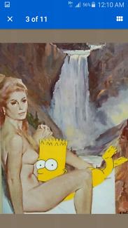 Listed artist S. Goddard called'Mrs Robinson