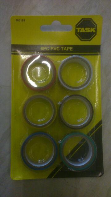 Task 586188 PVC Insulation Tape Red White Yellow Black Blue Green