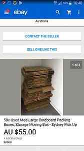 cardboard boxes ( 30x used ) Kingswood Penrith Area Preview