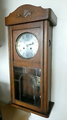 Georgian 1940's Wall clock antique collectable with Westminster chimes