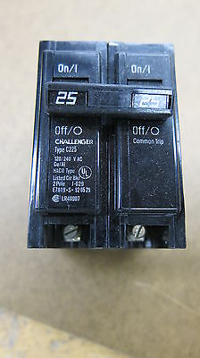 Challenger C225 2 Pole 25 Amp Plug In Circuit Breaker New