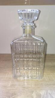 vintage pressed glass decanter