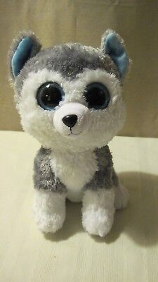Ty Beanie Boos   Slush The Husky Dog   9  10  Med Size   Silky Soft Dog