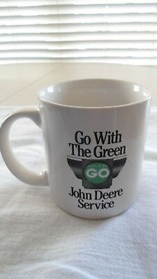 "John Deere Coffee Mug 1992 Go With The Green Service 5400 ""Spirit Tractor"""