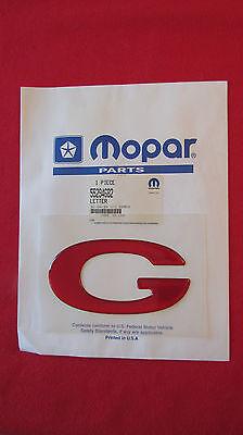 """New OEM Red Dodge Dakota """"G"""" Nameplate Emblem Tailgate Letter Kit Badge 55294682"""