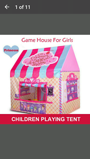 Children's play tent ..yard or indoors ..Christmas idea NEW