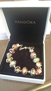 Pandora bracelet Made In Murano Italy 9KT gold beads Toowoomba Toowoomba City Preview