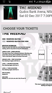 2 tix to the weeknd.