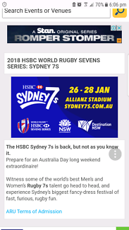 Sydney rugby 7s tickets