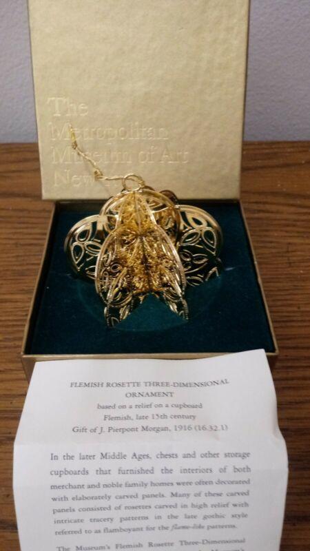 The Metropolitan Musem Of Art New York Three Dimensional Christmas Ornament...