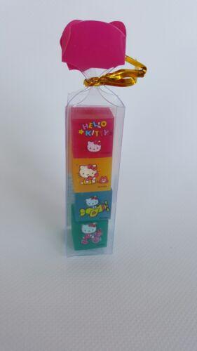 Lot of 4 Sanrio Hello Kitty block erasers