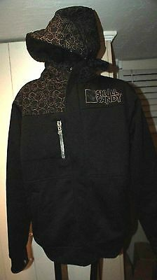 Mens Skull Candy Hoodie Size S Small Full Zip Lined Insulated