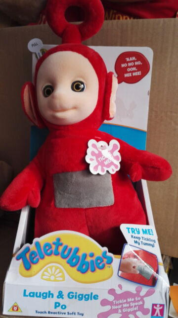 """TELETUBBIES 12"""" LAUGH AND GIGGLE PO - TOUCH REACTIVE SOFT TOY - NEW"""