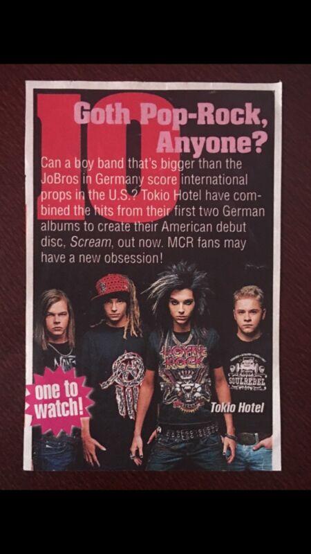 Tokio Hotel Rare 2007 Scream Album Era Magazine Clipping