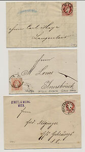 187. 3 Briefe! Interessantes Lot! - <span itemprop=availableAtOrFrom>Eberau, Österreich</span> - 187. 3 Briefe! Interessantes Lot! - Eberau, Österreich