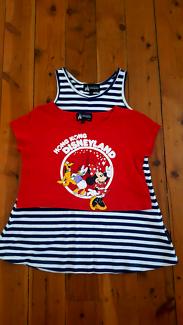 Size: Large (7) Hong Kong Disneyland Dress & Crop Top