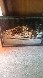 Tiger picture painting on suede Warrnambool Warrnambool City Preview
