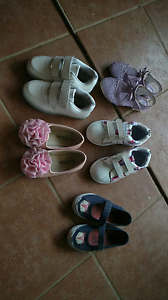 3 new 2 used shoes girls shoes size 8-9 Seven Hills Blacktown Area Preview