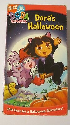 DORA THE EXPLORER ~ DORA'S HALLOWEEN ~ VHS, 2004 ~ NICK JR ~ 1+SHIP   - Dora's Halloween Vhs