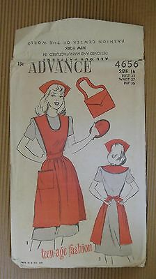 VINTAGE 1940' ADVANCE PATTERN #4656 SEWING MODEL TEEN - AGE FASHION NEW YORK