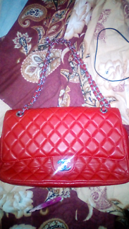 Chanel red flap bag