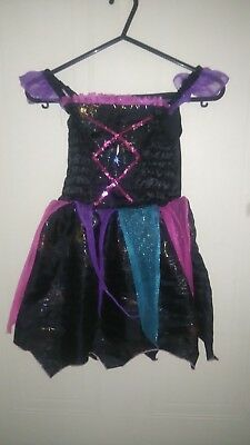 girls halloween tesco fancy dress black strappi size 5-6](Tesco Fancy Dress Halloween)