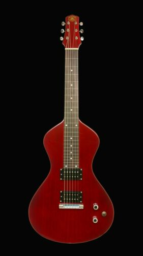 NEW Asher Electro Hawaiian® Junior Lap Steel Trans Cherry - More Improvements!