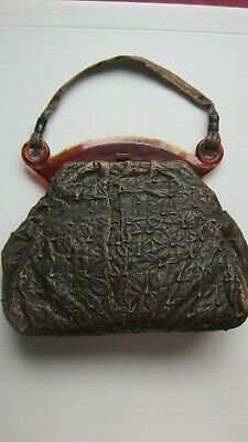 1930s Handbags and Purses Fashion 1930,s Art Deco orig vint RARE ostrich leather bag with amazing celluloid frame, $96.52 AT vintagedancer.com