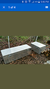 Two checkerplate toolboxes Mona Vale Pittwater Area Preview