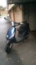 2014 50cc scooter, Piaggio Plus A Helmet Ramsgate Beach Rockdale Area Preview
