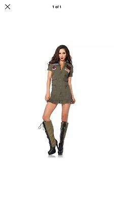 Top Gun Goose Maverick Womens Flight Dress Halloween Costume Large
