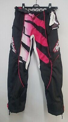 Fly Racing WOMEN'S Kinetic MX Pants Off-Road Riding Gear *20,22* Black/Pink Off Road Hose Riding Gear
