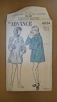VINTAGE 1940' ADVANCE PATTERN #4624 SEWING MODEL WOMEN FASHION NEW YORK