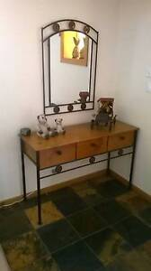 Timber / Iron Hallway Table with Mirror North Brighton Holdfast Bay Preview