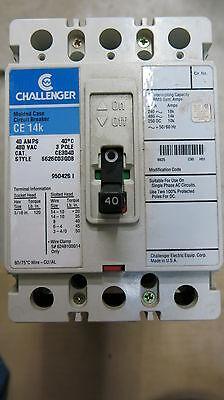 Challenger Ce3040 40 Amp 3 Pole 480 Volt Circuit Breaker New Surplus