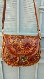 Leather Flower Purse eBay