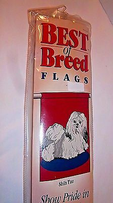 "SHIH TZU Flag Nylon NEW Dog Best Breed Collection Indoor Outdoor 28x40"" Banner"