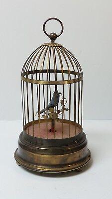 Vintage German Musical Singing Bird Birdcage Music Box