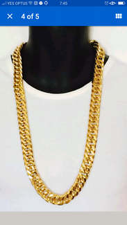 18 KT gold plated Necklace chain 14 mm width