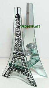 Glass-Paris-Eiffel-Tower-Shaped-Tealight-Candle-Holder-Tea-lite-Tea-light-NEW