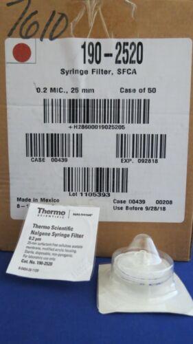 45 Nalgene SFCA Syringe Filters 25mm 0.2 Micron #190-2520