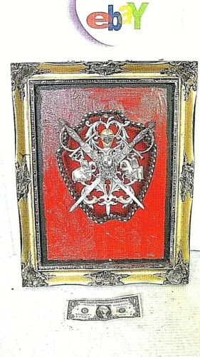 Gothic Halloween  Vampire   Wall Door Plaque swords Vlad