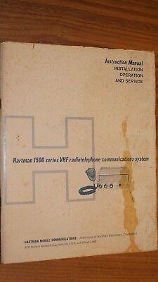 Lot Hartman 1500 2 Vhf Radiotelephone Operationservice Manual