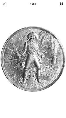 2 Troy oz Privateer The Captain .999 Silver Ultra High Relief Round FREE (2 Oz Privateer Ultra High Relief Silver Round)