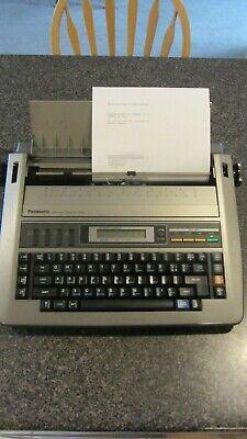 Vintage Panasonic Electronic Typewriter Kx-r430 - Tested Working