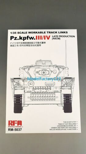 Rye Field Model RM5037 1/35 Workable Track links for Pz,kpfw.III/IV Late