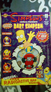 1st 2nd and third edition Simpsons comics. Slacks Creek Logan Area Preview