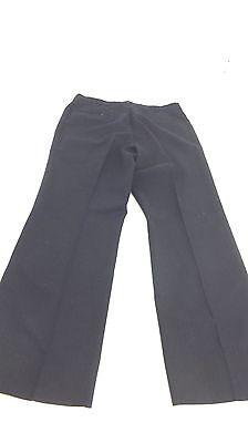 LEO MENS PURE WOOL NAVY PINSTRIPE DRESS PANTS SIZE 32 X 30