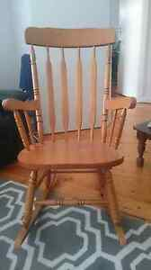 Wooden rocking chair Panorama Mitcham Area Preview